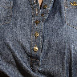 camisa feminina jeans principessa brenaa