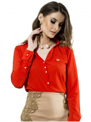 camisa feminina grace manga longa
