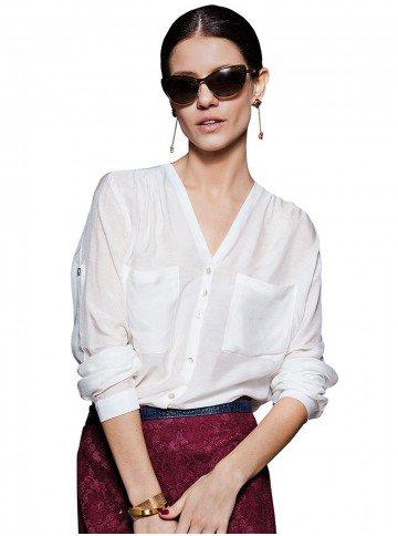 blusa branca manga longa principessa marcela