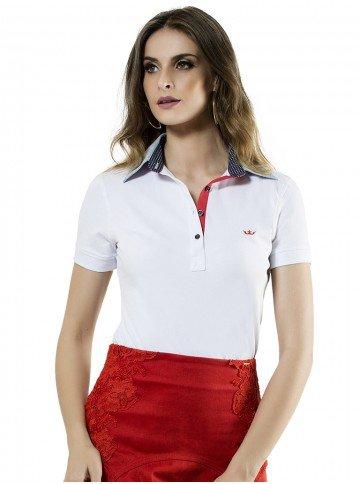 camisa polo branca feminina principessa ticiana