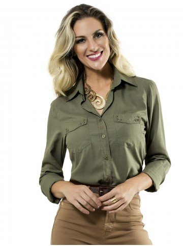 camisa verde militar principessa priscila