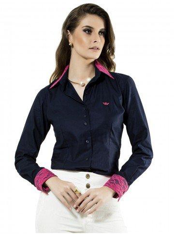camisa social marinho principessa damaris