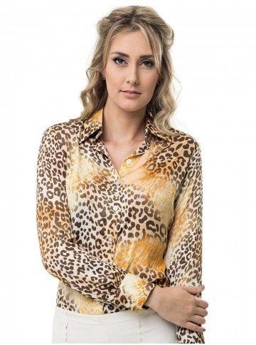 camisa estampada animal print principessa adriele