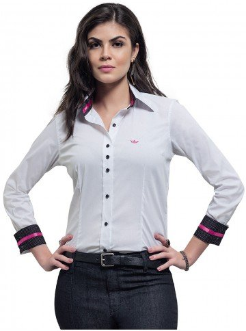 camisa social branca principessa thamara
