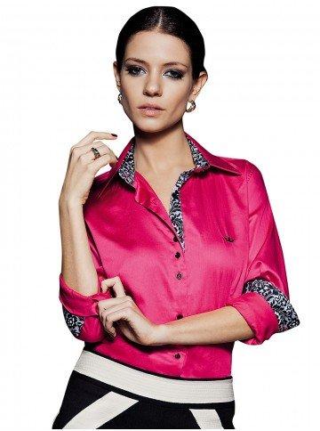 camisa social pink principessa katherine