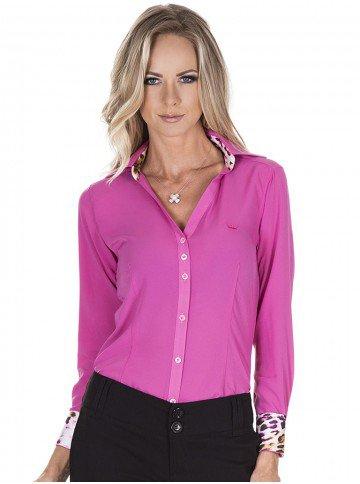 camisa rosa com animal print principessa cida