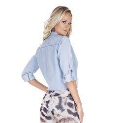 blusa jeans feminina principessa desiree detalhe costa