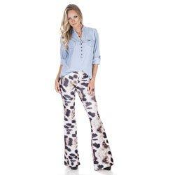 blusa jeans feminina principessa desiree detalhe look completo