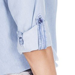 blusa jeans feminina principessa desiree detalhe martingale