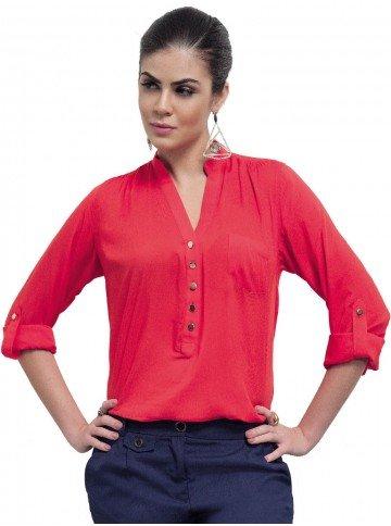 blusa basica vermelha principessa ellen
