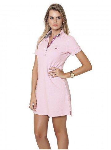vestido polo rosa principessa roseli
