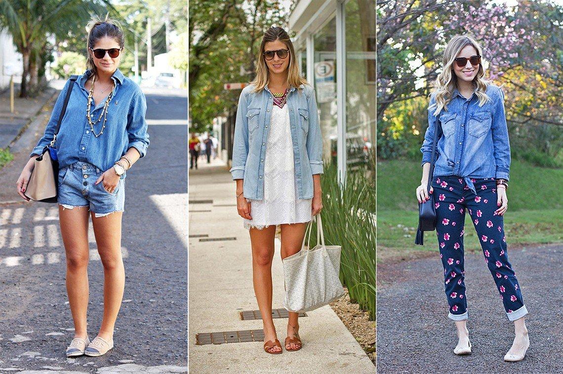 principessa dicas camisa jeans looks como usar shop buy comprar