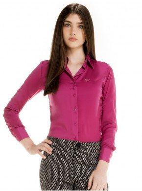 camisa feminina cetim violeta principessa laiza look certo