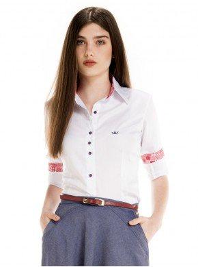 camisa social principessa branca feminina principessa nalva look