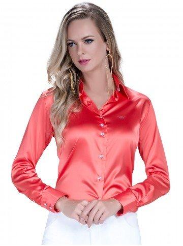 camisa feminina social com elastando principessa melanie