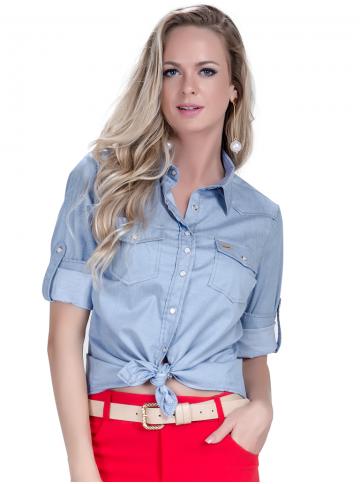 camisa estilosa principessa liane jeans claro look