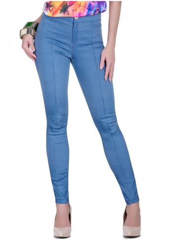 calca jeans bengaline skinny botao look