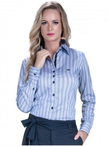 camisa social cinza premium fio egipcio jessika look