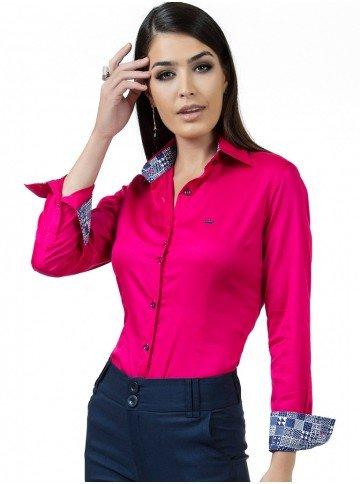 camisa pink feminina principessa danny look fio egipcio
