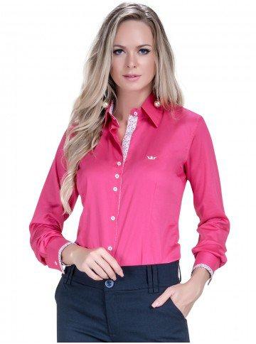 camisa feminina fio egipcio pink principessa cecilia look