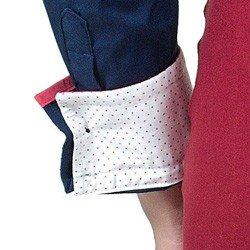 camisa social com elastano marinho principessa laurita punho poa