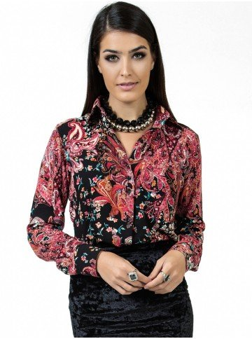 camisa estampada floral principessa eleonora look
