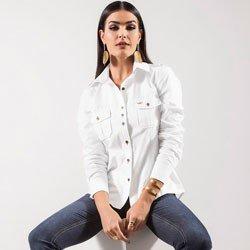 detalhe camisa oxford branca principessa livia