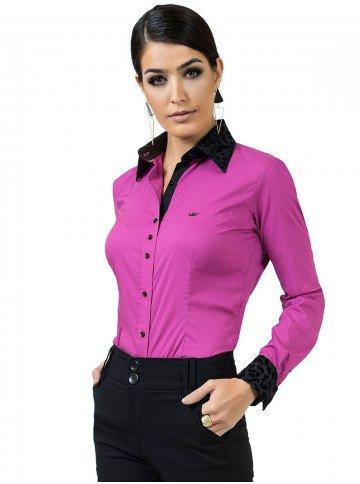 camisa feminina violeta principessa gloria maria