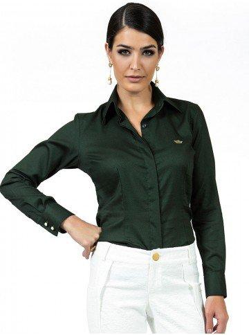 camisa maquinetada verde principessa fatima