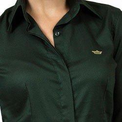 camisa social feminina maquinetada principessa fatima tecio