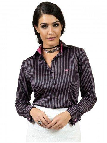 camisa listrada social feminina premium principessa giordana look