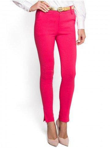 calca skinny cintura alta pink com ziper barra principessa bianca looj