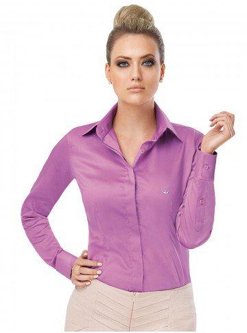 camisa feminina social principessa violeta daniella