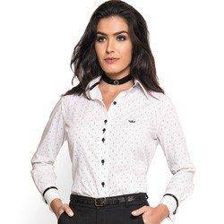 camisa social feminina branca principessa shirlene detalhes corte e tecido