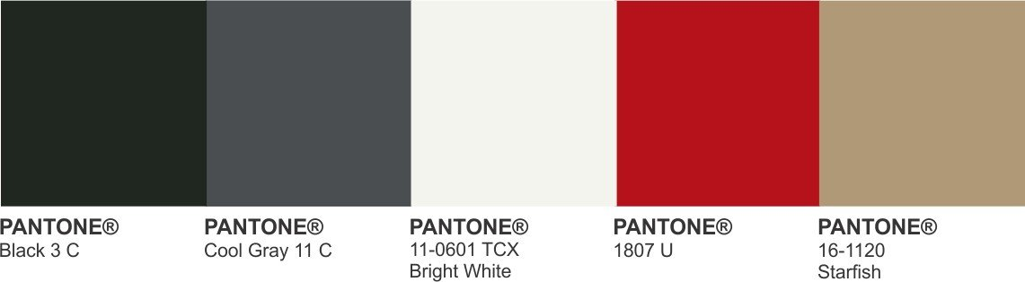 black and white pantone
