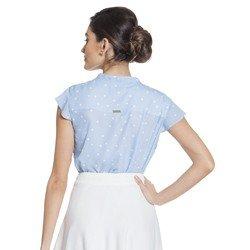 blusa gola laco poa azul principessa jessica descricao modelagem