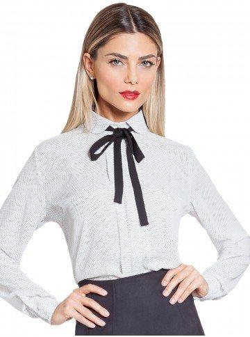 camisa off white poa gola laco principessa gaia frente