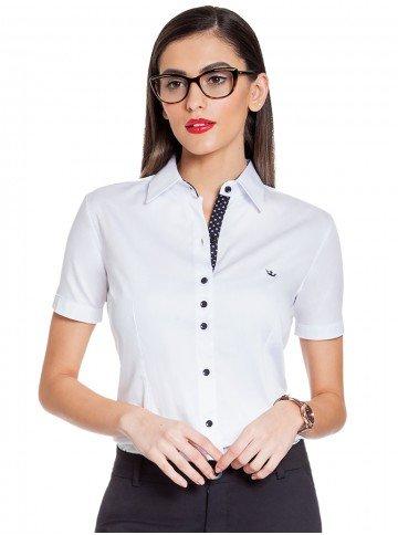 camisa social feminina branca principessa crislaine frente