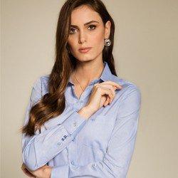 camisa social azul personalizada principessa islaconceito