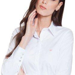 camisa maquinetada branca principessa diane colarinho alinhado