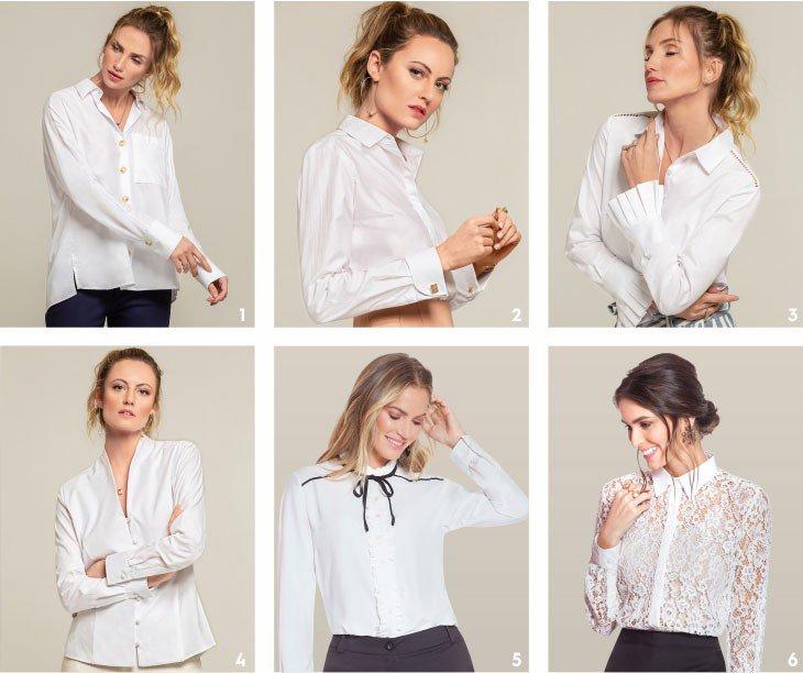 camisas brancas
