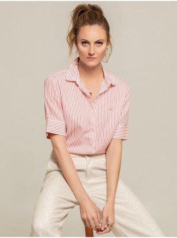 camisa listrada coral cecilia frente