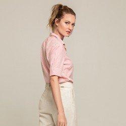 camisa listrada coral cecilia modelagem