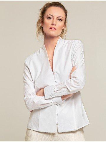 camisa branca maquinetada alicia frente