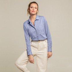 camisa social azul jeans larissa geral