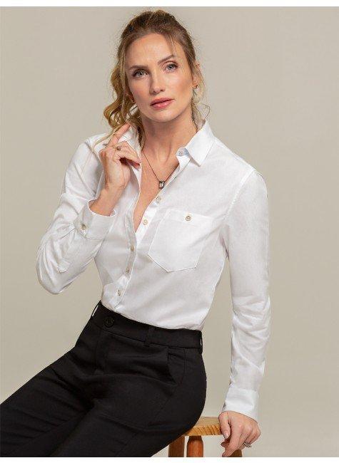camisa oxford branca nancy frente