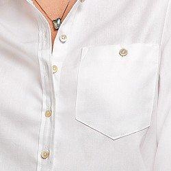 camisa oxford branca nancy vista bolso