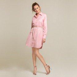 vestido oxford rosa morgana botao geral