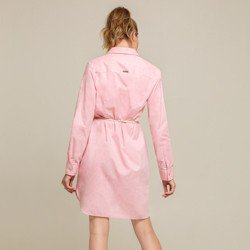 vestido oxford rosa morgana botao modelagem
