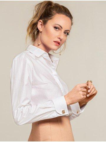 camisa abotoadura branca isabela frente